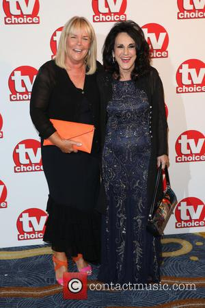Lesley Joseph and Linda Robson - TVChoice Awards 2014 held at the Park Lane Hilton - Arrivals - London, United...