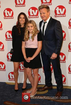 Gordon Ramsay, Tana Ramsay and daughter Matilda - TVChoice Awards 2014 held at the Park Lane Hilton - Arrivals -...