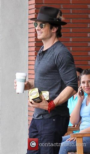 Ian Somerhalder - American actress Nikki Reed who starred in the Twilight saga photographed out for a coffee with partner...