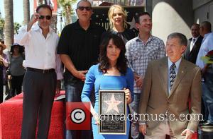 Ed O'Neill, Katey Sagal, David Faustino and Leron Gubler - Katey Sagal at her Hollywood Walk of Fame star ceremony...
