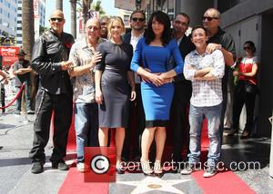 Katey Sagal, Charlie Hunnam, Kurt Sutter, Dayton Callie, Ed O'Neill and David Faustino - Katey Sagal at her Hollywood Walk...