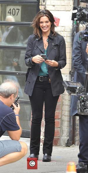 Alana De La Garza - Shots from the set of ABC's show 'Forever' which stars Ioan Gruffudd. Filming in New...