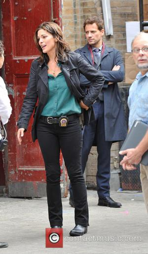 Ioan Gruffudd and Alana De La Garza - Shots from the set of ABC's show 'Forever' which stars Ioan Gruffudd....