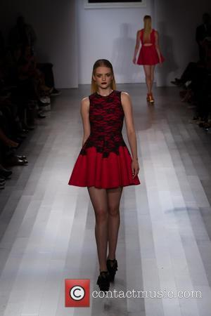 Model - Mercedes-Benz New York Fashion Week Spring 2015  - Angela Simmons - Runway - New York, New York,...