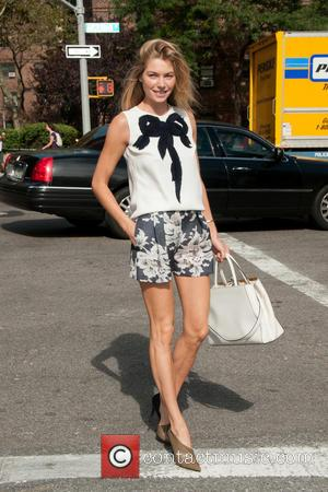 Jessica Hart - Stars attend the 2014 Mercedes-Benz New York Fashion Week to take a look at Carolina Herrera's Spring...