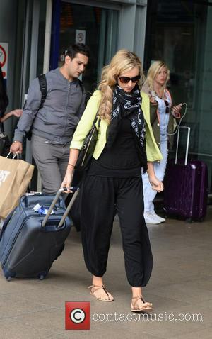 Catherine Tyldesley - Coronation Street Cast Members arrive at Manchester Piccadilly Train Station after visiting London for the TV Choice...