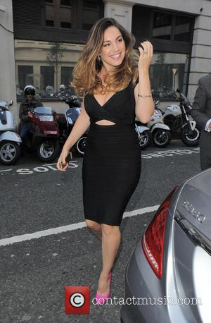 Kelly Brook - Kelly Brook pictured arriving at BBC Radio 2 this afternoon - London, United Kingdom - Tuesday 9th...