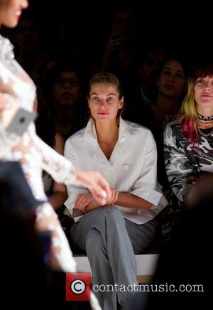 Jessica Hart - Mercedes-Benz New York Fashion Week Spring 2015 - Betsey Johnson - Backstage and Front Row - New...