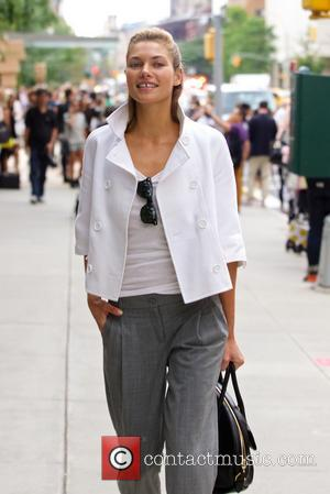 Jessica Hart - Mercedes-Benz New York Fashion Week Spring 2015 - Celebrity sightings at Lincoln Center - New York City,...
