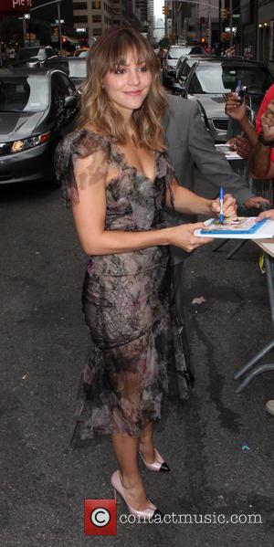 Katharine McPhee - Late Show with David Letterman - Arrivals - New York City, New York, United States - Wednesday...