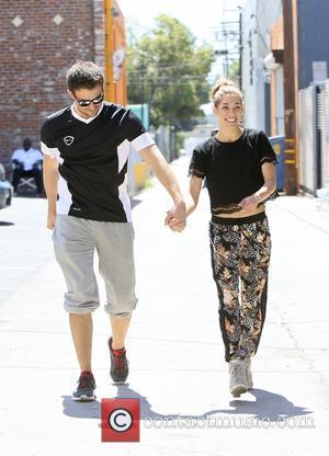 Jonathan Bennett and Allison Holker - Jonathan Bennett and Allison Holker seen taking a break from dance practice, for 'Dancing...