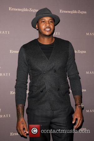 Carmelo Anthony - A host of celebrities arrive on the red carpet for the One of 100 Maserati Quattroporte Zegna...