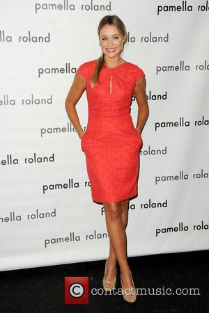 Katrina Bowden - Mercedes-Benz Fashion Week Spring 2015 - Pamella Roland - Arrivals and Backstage - Manhattan, New York, United...