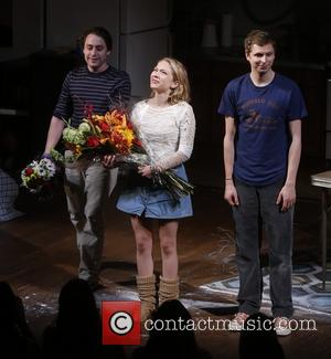 Kieran Culkin, Tavi Gevinson and Michael Cera - Opening night curtain call for 'This Is Our Youth' held at the...