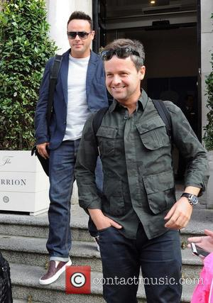 Ant ( Anthony McPartlin ) and Dec ( Declan Donnelly ) - TV Presenters Ant & Dec leaving their hotel...