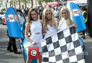 Rozanna Purcell, Nicola Hughes and Rosanna Davison - CANNONBALL 2014 departs from The Point Village, Dublin, Ireland - 12.09.14. -...