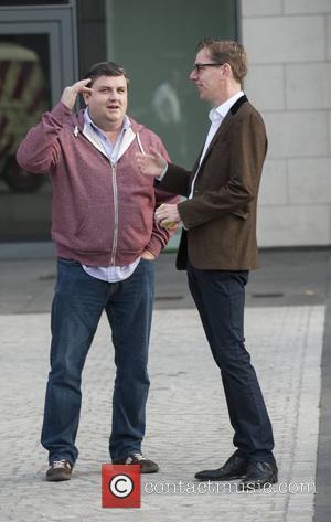 Simon Delaney and Ryan Tubridy - CANNONBALL 2014 departs from The Point Village, Dublin, Ireland - 12.09.14. - Dublin, Ireland...