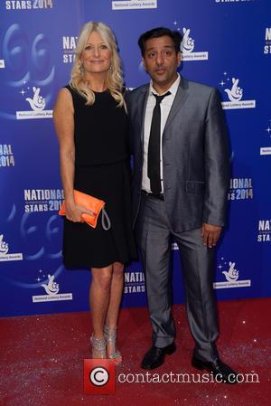Gaby Roslin and Nitin Ganatara - 2014 National Lottery Awards - Arrivals - London, United Kingdom - Friday 12th September...