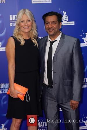 Gaby Roslin and Nitin Ganatara