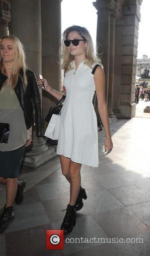 Nina Nesbitt - London Fashion Week Spring/Summer 2014 - Bora Aksu - Arrivals - London, United Kingdom - Friday 12th...