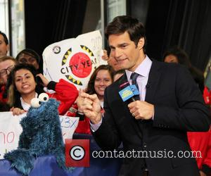 Cookie Monster and Rob Marciano  Weather Host