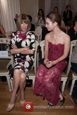 Lily James and Anna Wintour