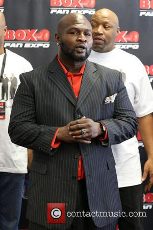 James Toney - Ex professional boxers including James 'Lights out' Tony, Shawn Porter and Mike Tyson were photographed at the...