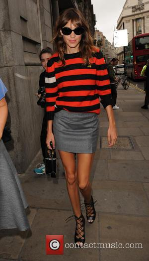 Alexa Chung - Celebrities seen as they arrive at London Fashion Week for the Emilia Wickstead Spring Summer 2015 collection...