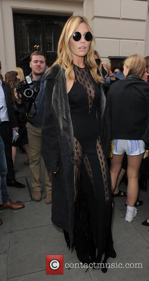 Abbey Clancy - LFW s/s 2015 - Julien Macdonald - Arrivals - London, United Kingdom - Saturday 13th September 2014