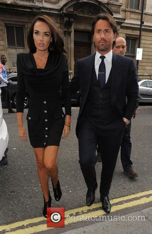 Tamara Ecclestone and Jay Rutland - LFW s/s 2015 - Julien Macdonald - Arrivals - London, United Kingdom - Saturday...