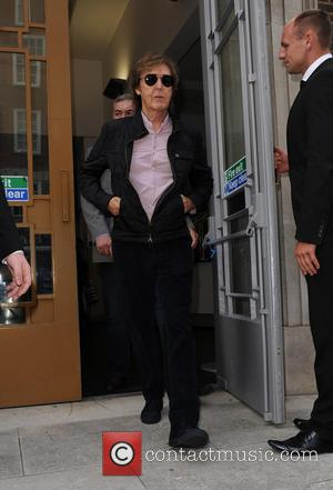 Sir Paul McCartney - Stars photographed as they arrive and depart the Hunter Original 2015 spring/summer collection at London Fashion...
