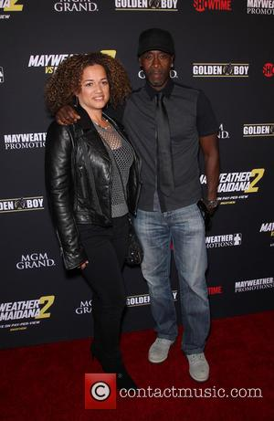 Don Cheadle - Stars were photographed at Showtime's Mayhem: Mayweather vs. Maidana 2 fight held at MGM Hotel & Casino...