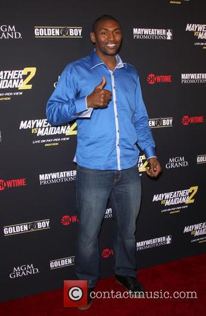 Metta World Peace - Stars were photographed at Showtime's Mayhem: Mayweather vs. Maidana 2 fight held at MGM Hotel &...