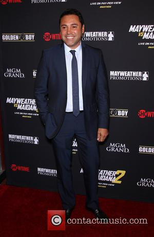 Oscar De La Hoya - Stars were photographed at Showtime's Mayhem: Mayweather vs. Maidana 2 fight held at MGM Hotel...