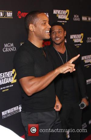 Will Smith - Stars were photographed at Showtime's Mayhem: Mayweather vs. Maidana 2 fight held at MGM Hotel & Casino...