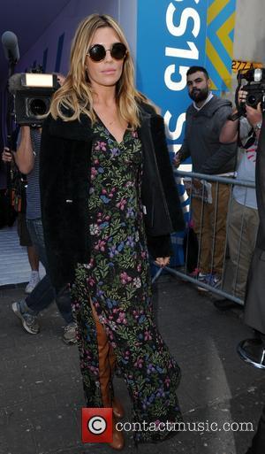 Abigail Clancy - London Fashion Week Spring/Summer 2015 - Topshop Unique - Departures - London, United Kingdom - Sunday 14th...