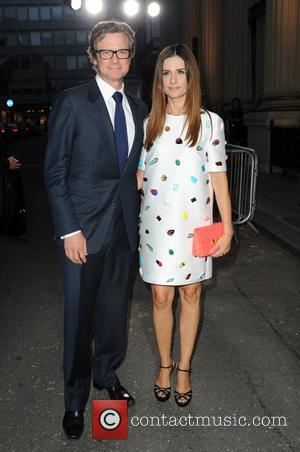 Livia Firth and Colin Firth - A list celebrities were photographed as they arrive at London Fashion Week Spring/Summer 2015...