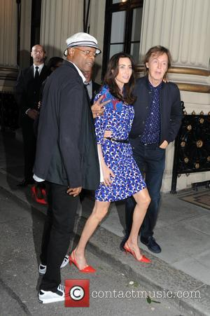 Paul Mccartney, Nancy Shevell and Samuel L Jackson