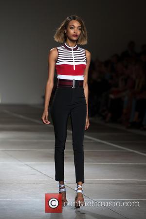 Jourdan Dunn - Shots from the Topshop unique catwalk at London Fashion Week presenting the Spring/Summer 2015 collection - London,...