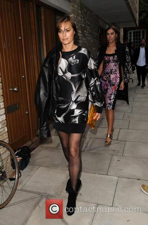 Yasmin Le Bon - London Fashion Week Spring/Summer 2015 - Giles Deacon - Arrivals - London, United Kingdom - Monday...