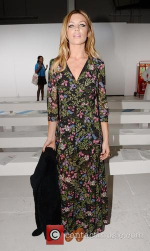 Abbey Clancy - London Fashion Week Spring/Summer 2015 - House of Holland - Front Row - London, England, United Kingdom...