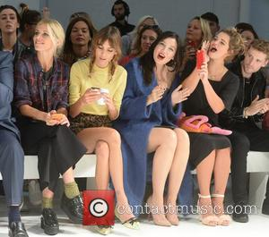 Laura Bailey, Alexa Chung, Daisy Lowe and Pixie Geldof - London Fashion Week Spring/Summer 2015 - House of Holland -...