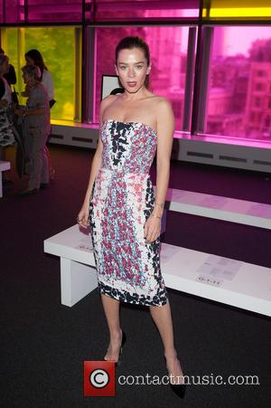 Anna Friel - LFW s/s 2015: Peter Pilotto fashion show  - front row and catwalk held at Queen Elizabeth...