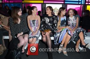 Yasmin Le Bon, Amber Le Bon and Anna Friel - LFW s/s 2015: Peter Pilotto fashion show  - front...