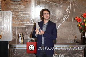 Josh Groban - Josh Groban lights up the Empire State Building in red and white celebrating NY Philharmonic's 173rd Season...