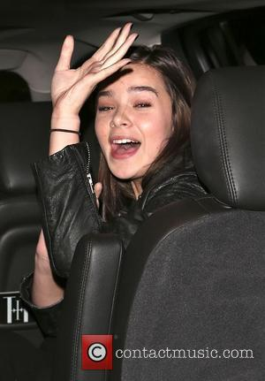 American actress Hailee Steinfeld who has starred in films such as 'Enders Game' and '3 Days To Kill' seen arriving...
