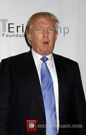 Donald Trump - American business giant Donald Trump along with the rest of the Trump family came out to give...