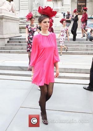 Eva Mendes and Models - New York & Company - Eva Mendes Fall Collection fashion show held at New York...