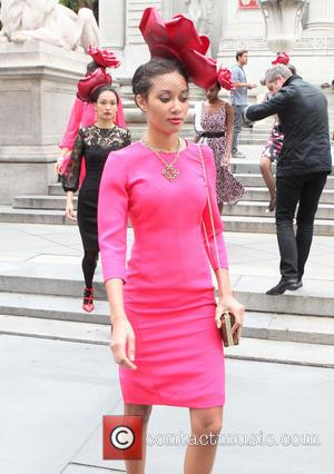 Eva Mendes and Models - New York & Company - Eva Mendes Fall Collection fashion show held at New York...
