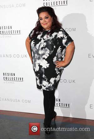 Lisa Riley - London Fashion Week Spring/Summer 2015 - Design Collective for Evans - Arrivals - London, United Kingdom -...